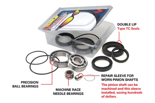 All Balls Racing Differential Bearing and Seal Kit Rear 25-2012