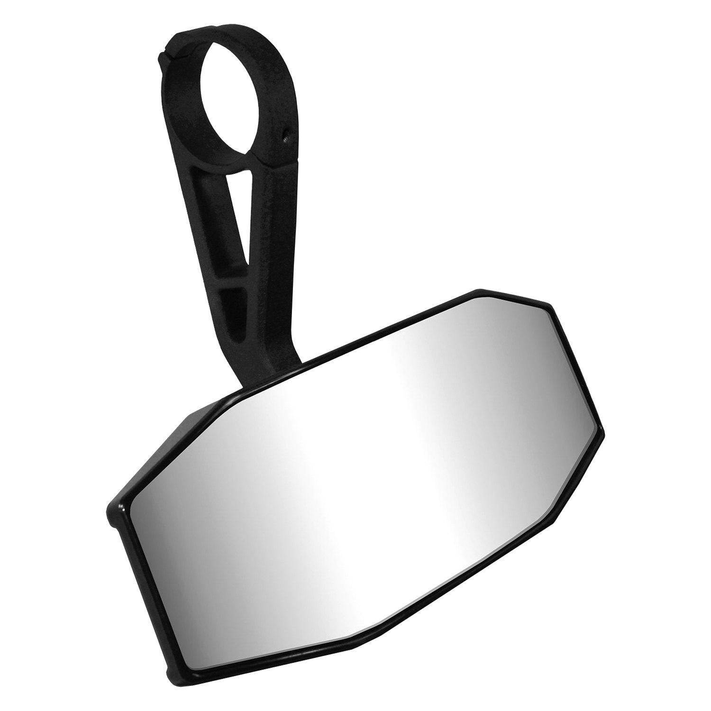 Utv Rear View Mirror >> Cipa 01141 Deluxe Utv Wide Angle Rear View Black Mirror