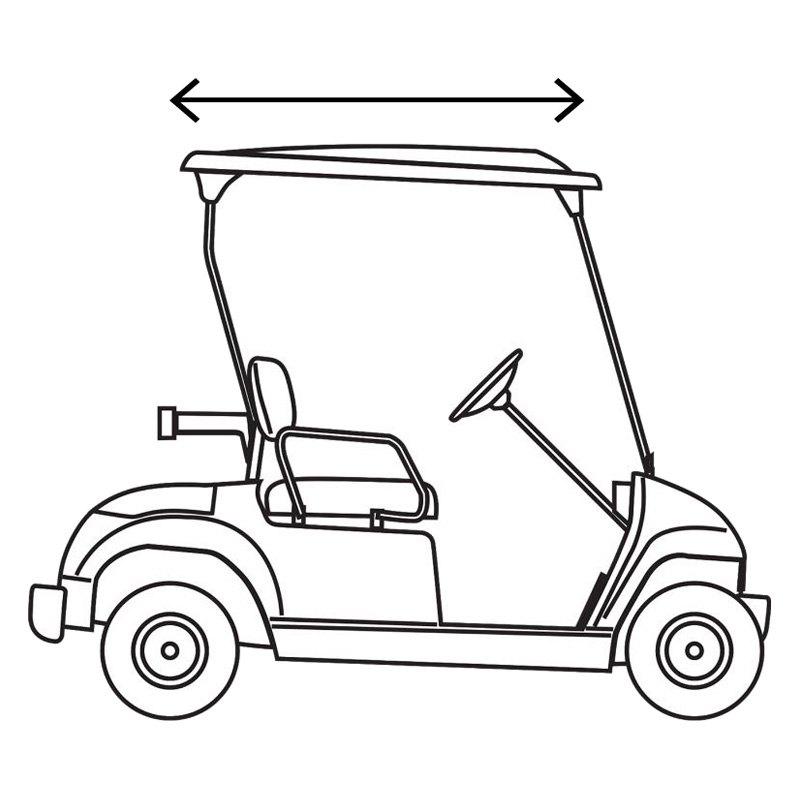 Classic Accessories® 40-060-335801-00 - Fairway™ Fadesafe™ Club Car™  Precedent 2-Person Khaki Golf Car Enclosure