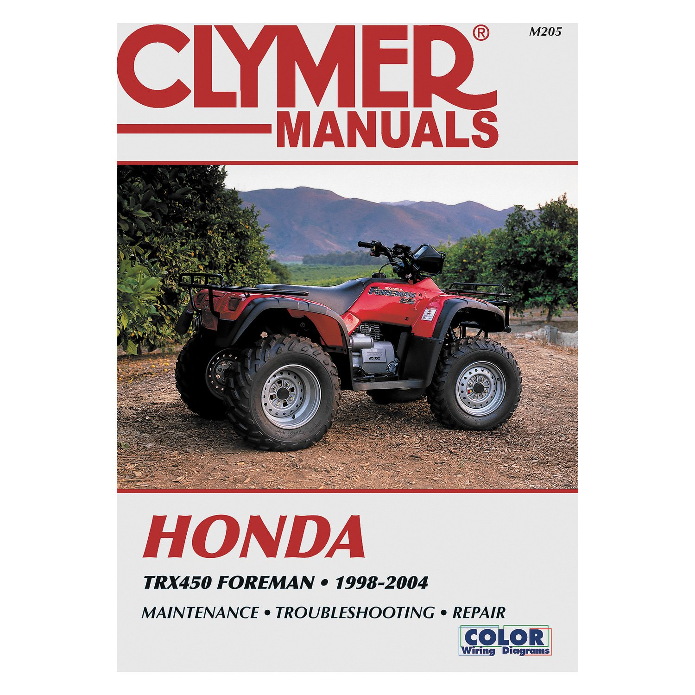 1998 honda rancher wiring diagram clymer   m205 honda trx450 foreman 1998 2004 repair manual  clymer   m205 honda trx450 foreman