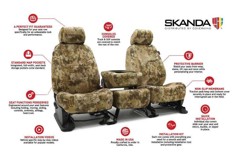 Admirable Coverking Csckt07Ca1002 Kryptek Neosupreme Rear Seat Camo Highlander Custom Seat Covers Bralicious Painted Fabric Chair Ideas Braliciousco