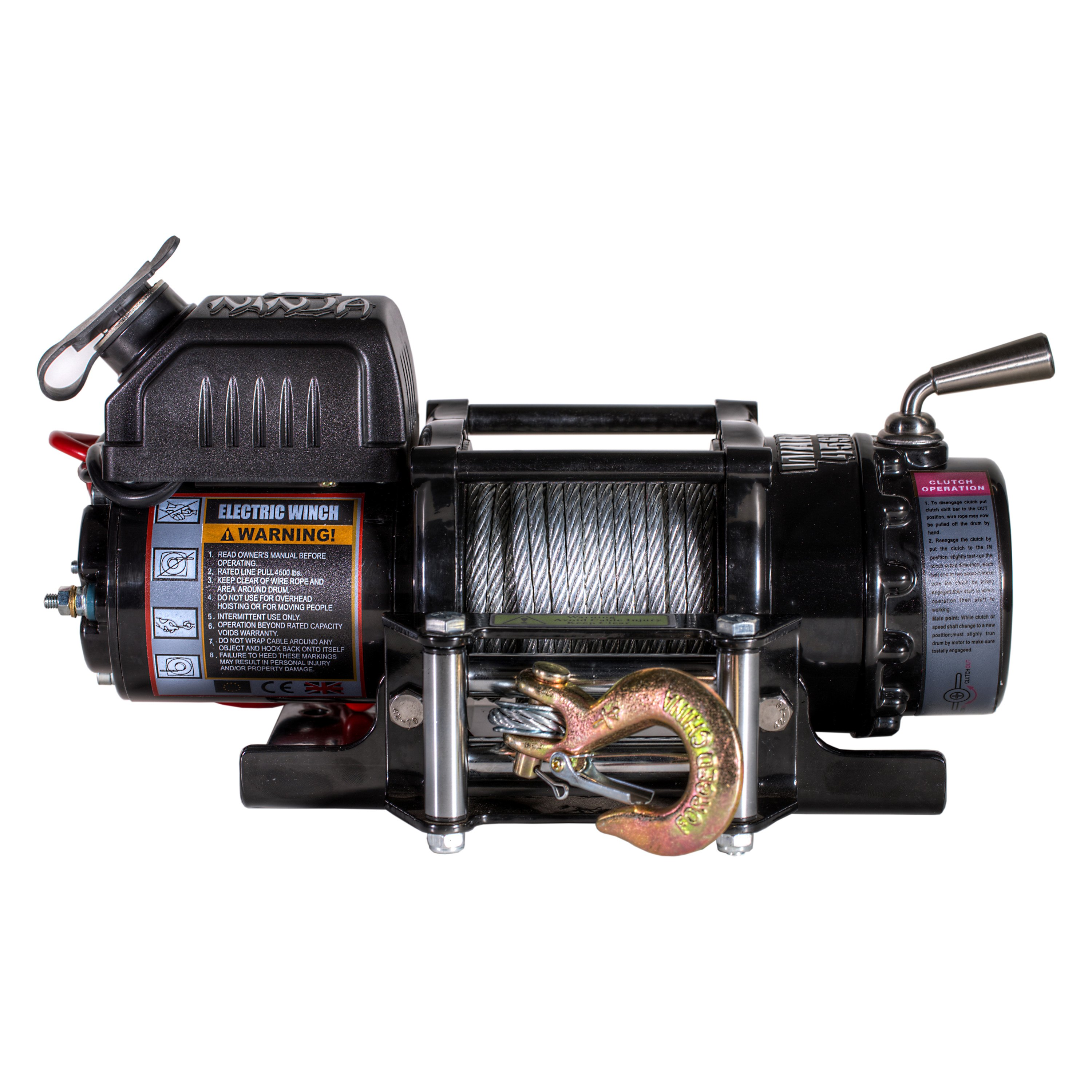 Detail K2 C4500n Warrior Ninja Series 4500 Lb 12v Electric Winch Snow Plow Wiring Diagram