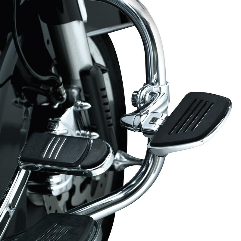 Kuryakyn 4393 Motorcycle Accessory Chrome 1 Pair Premium Mini Board Floorboards without Adapters