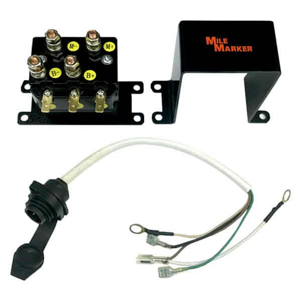 Mile Marker® 76-50105-32C - ATV Solenoid with IP67 Wiring Harness on