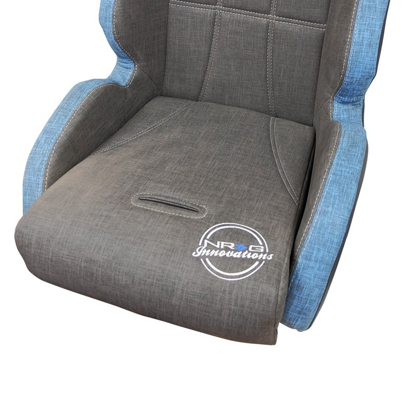 NRG Innovations® DF-100GY - Defender Series Water Resistant Offroad  Suspension Seat, Gray and Blue