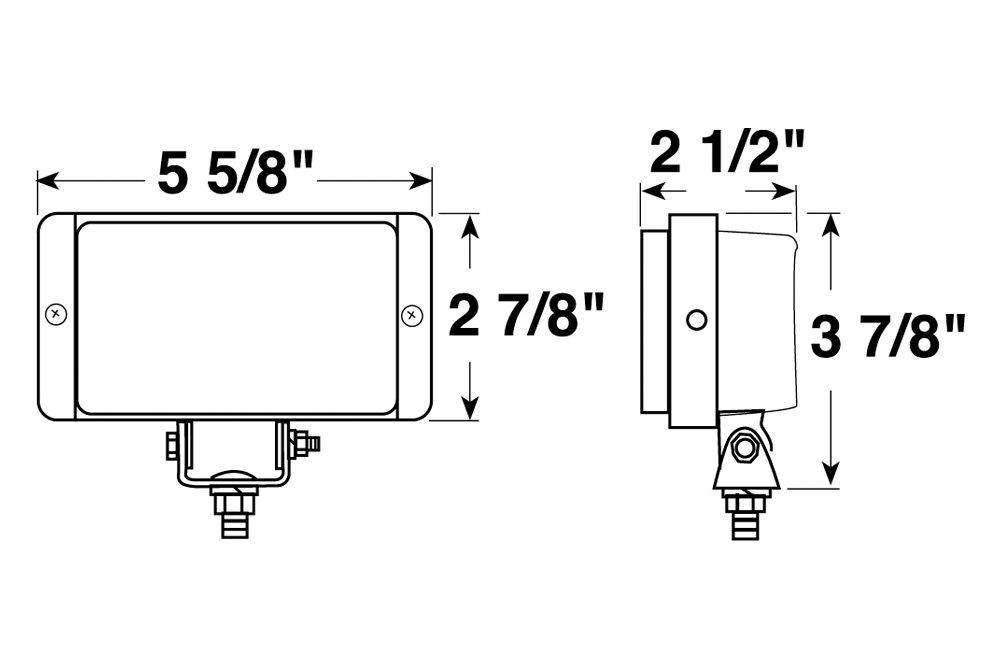 Peterson 502 Series Utility 5 X3 55W Rectangular Light