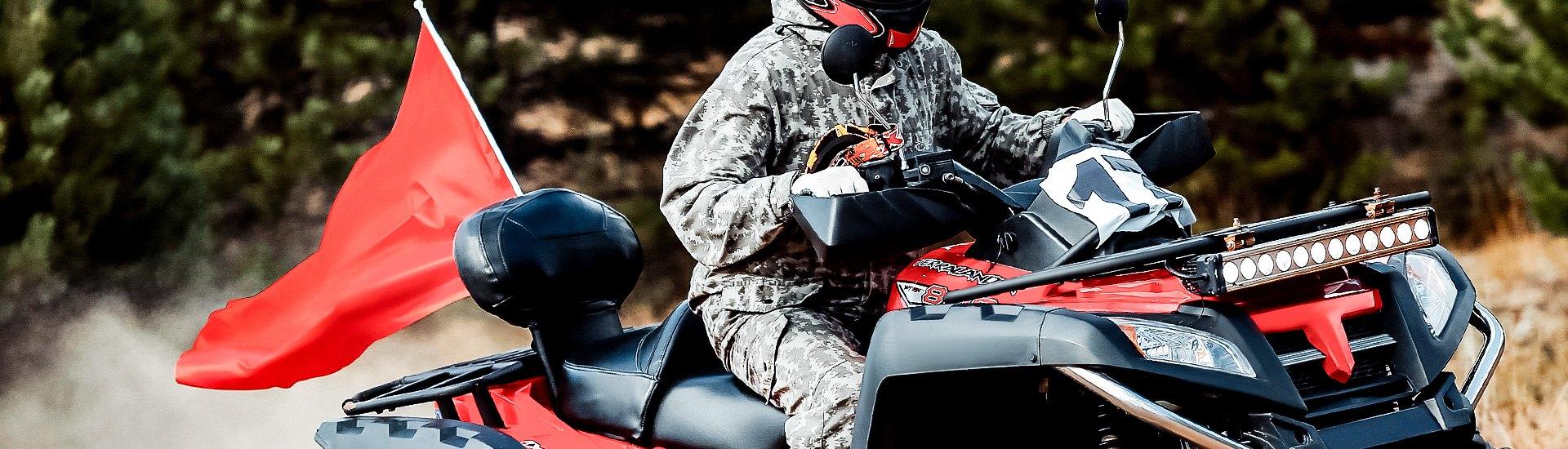 """ModQuad Polished ATV Billet Flag Mount Fits 5//16/"""" /& 1//4/"""" Whips"""