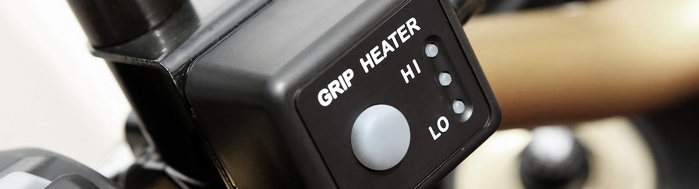 HEATED GRIPS 5 HEAT SETTINGS WARM HANDS NEW R/&G QUAD BIKE ATV