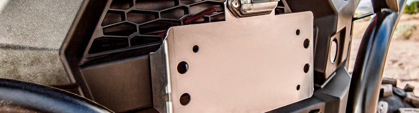 RZR XP-4 1000 Rear Number Plates ~White pr Maier Polaris RZR XP 1000