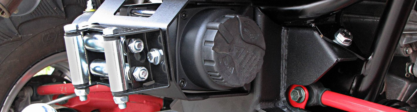 2 Piece VIPER ATV//UTV Winch Rubber Line Stopper Hook Saver w//Integrated Bolts