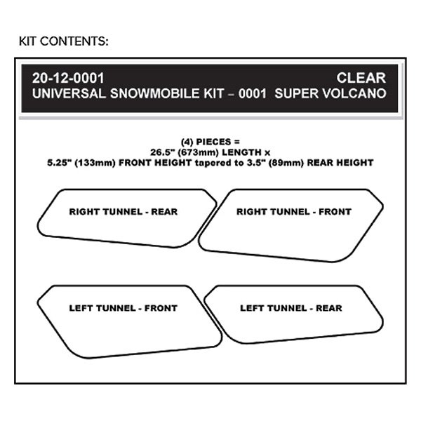 Clear Stomp Design 20-12-0001 Universal Tunnel Kit