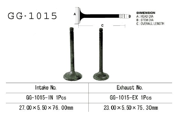 Vesrah Replacement Intake Engine Valve Sold Each GG-1015-IN Honda ATC125M